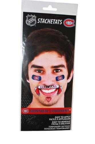 StacheTATS Montreal Canadians Temporary Mustache Tattoos]()