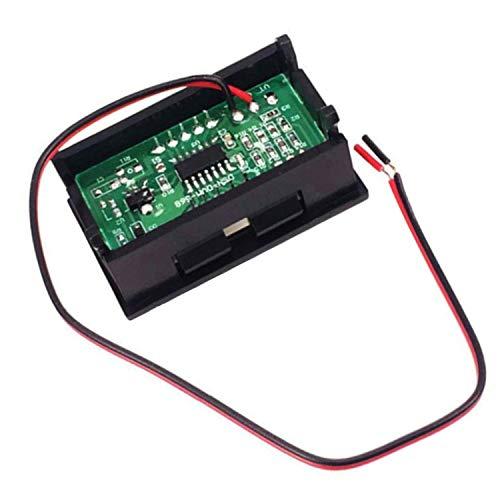 DGZZI 2PCS Green LED Digital Voltmeter Voltage Meter DC 5V to 30V Voltage Panel Meter for 6V 12V Electromobile Motorcycle Car