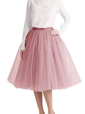 Length Layered Tulle A-line Party Prom Skirt Tulle Skirt