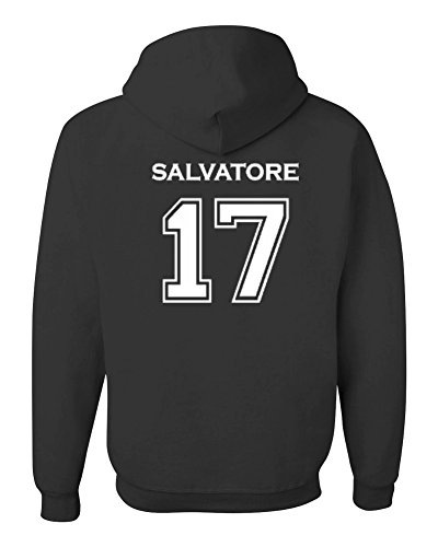 Adult Vampire Diaries Salvatore 17 2-Sided Hoodie (Medium, Black)