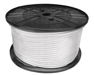 Alfa Cable coaxial digital TV/Sat plata bobina 100 metros 1.02mm blanco