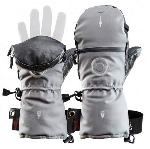 Heat 3 Gloves Layer System Shell Smart Full Leather/Black / Size 8 by The Heat Company (Image #2)