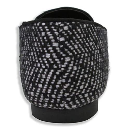efa3004af247 chic Olivia Miller Women s  Trish  Black Multi Stone Tweed Smoking Shoes