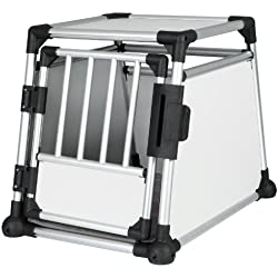TRIXIE Pet Products Scratch-Resistant Metallic Crate, Medium