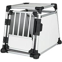 TRIXIE Pet Products Scratch-Resistant Metallic Crate, Medium