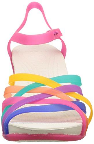 sintético Multicolore Multi de de Sandalias Candy Huarache Pink Vestir Mujer para Crocs W zqftY