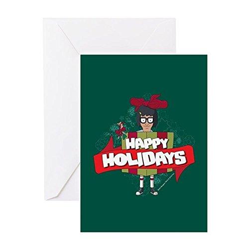 CafePress - Bob's Burgers Tina Holiday - Greeting Card, Note Card, Birthday Card, Blank Inside Matte
