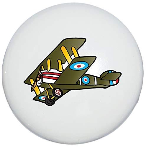 (Single Green Vintage Airplane Drawer Pulls/Ceramic Dresser Cabinet Handle Knobs/Airplane Children's Decor (Green Airplane Knob))