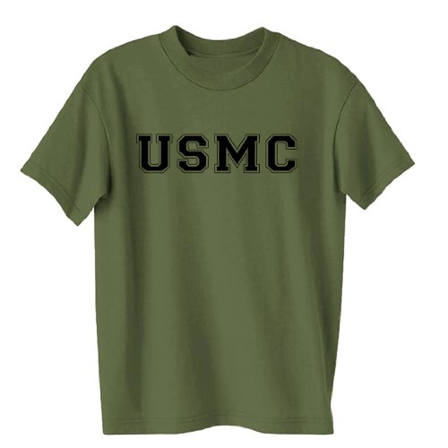 USMC Athletic Marines S/S T-Shirt in Military Green - XX-Large Marines Mens Tee