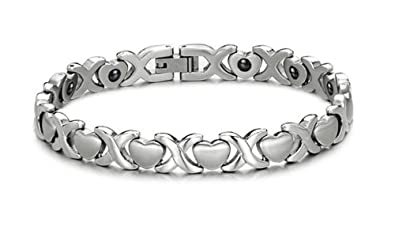 SunnyHouse Jewelry Lady's Titanium Magnetic Bracelet Anti-fatigue Anti-radiation in a Nice Gift Box 0JkElo