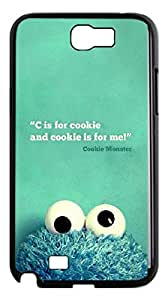 2015 popular Adorable! Case for Samsung Galaxy Note 2 N7100,I ? U COOKIE MONSTER phone Case for Samsung Galaxy Note 2 N7100.