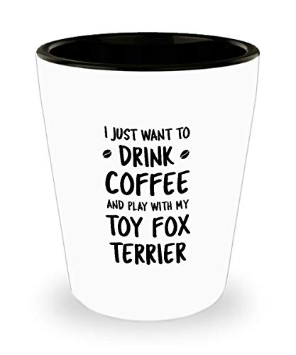 Funny Toy Fox Terrier Shot Glass - Dog Lover - Cute Pet Gifts for Mom and Dad