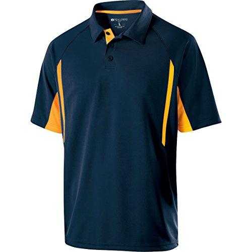 Holloway Sportswear Avenger Short-Sleeve Polo Shirt. 222530 Navy / Light Gold 2XL (Holloway Sportswear)