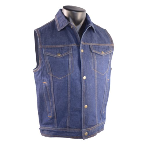 Amazon.com: Mens Blue Denim Jean Vest 2XL: Sports & Outdoors