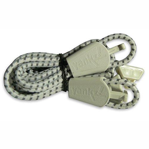 Yankz Certo Pizzo Tondo Scarpa Elastica Lacci Bianco Riflettente Con Bianco