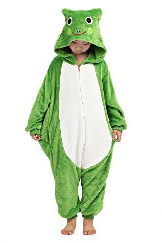 Anim-Unisex Kigurumi Pajamas Kids Costume Animal Pyjamas-frog-M