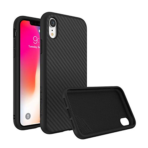 RhinoShield Case for iPhone XR [SolidSuit] by Shock Absorbent Slim Design Protective Cover with Premium Matte Finish [3.5M / 11ft Drop Protection] - Carbon Fiber Texture