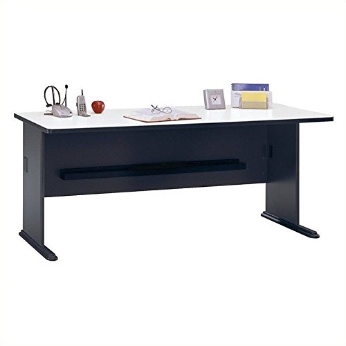 Large End Drawer - Bush Business Furniture Series A 72W Desk in Slate and White Spectrum