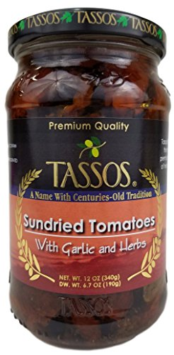 Tassos Sundried Tomatoes With Garlic And Herbs (12 fl oz)