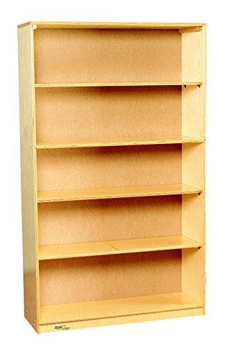 Bird in Hand 1457590 Adjustable Bookcase, 5 Shelf, Birch Wood, 36'' x 11-3/4'' x 60'', Natural Wood Tone by Bird In Hand