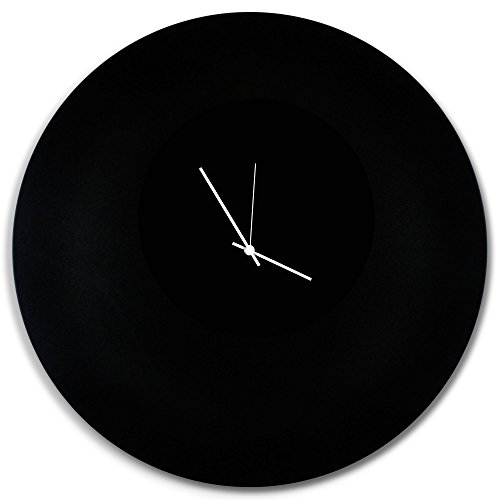 Minimalist Black Clock 'Blackout White Circle Clock Large'...