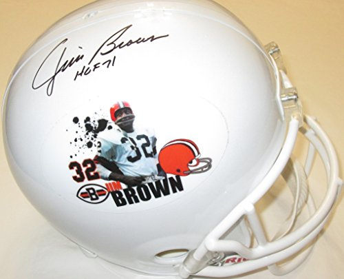 Jim Brown signed full size helmet with HOF 71 inscriptions LIMITED EDITION #1/6 - PSA/DAN authenticated ()