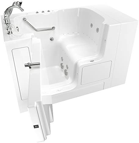 American Standard 3252OD.709.CLW-PC Gelcoat Value Whirlpool and Air Spa 32 x52 Left Side Outward Door Walk-In Bathtub in White