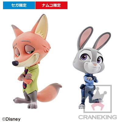 Banpresto Disney Zootopia Nick Wilde /& Judy Hopps Set of 2 Fluffy Puffy Figure Figurine