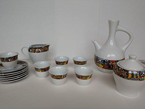 Saba Collection - Queen of Sheba Collection 16-Piece Ethiopian Coffee Ceremony Set
