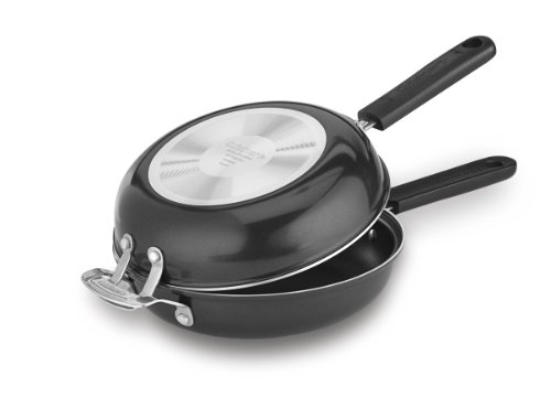Cuisinart FP2-24BK Frittata 10-Inch Nonstick Pan (Black Steel Round Frying Pan)