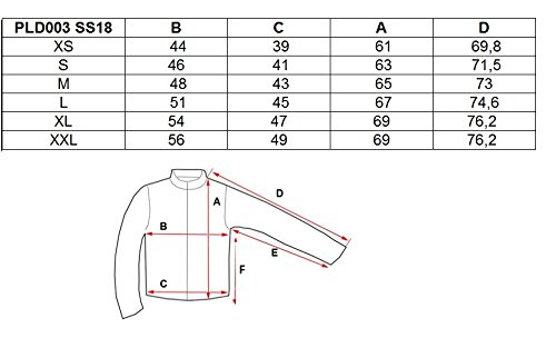 Chaqueta f Pld003 capucha Sudadera ss18 jersey con 4 con Sudadera para y temporada media polar cremallera mujer 4f Azul HwXdHA