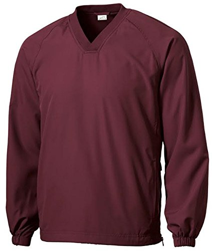 V-neck Wind Jacket - Joe's USA tm - Men's Athletic All Sport V-Neck Raglan Wind Shirts in XL