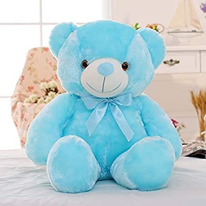 Cute Lamb Stuffed Animals, Amazon Com Yhygoo 50cm Creative Light Up Led Teddy Bear Stuffed Animals Plush Toy Colorful Glowing For Kids Pillow Blue About 500mm Sports Outdoors