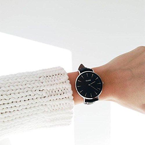 Cluse Reloj Analógico de Cuarzo para Mujer con Correa de Cuero - CL18201: Cluse: Amazon.es: Relojes