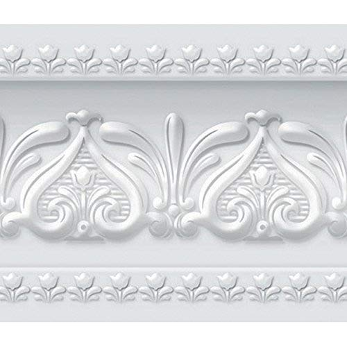 Stick Wall Border Easy to Apply (Neutral Gray) ()