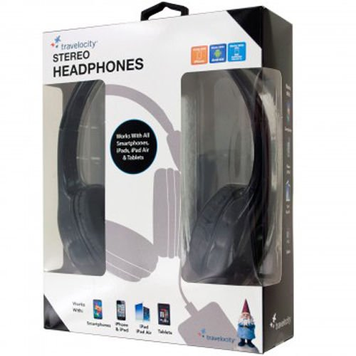 Click to buy Travelocity Padded Stereo Headphones Wired Premium Sound Quality -Black - From only $14.5