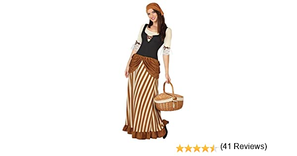 Atosa-26190 Disfraz Mesonera, color marrón, XL (26190): Amazon.es ...