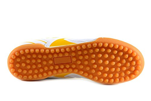 AGLA - Zapatillas de fútbol sala para hombre Media Yellow/White