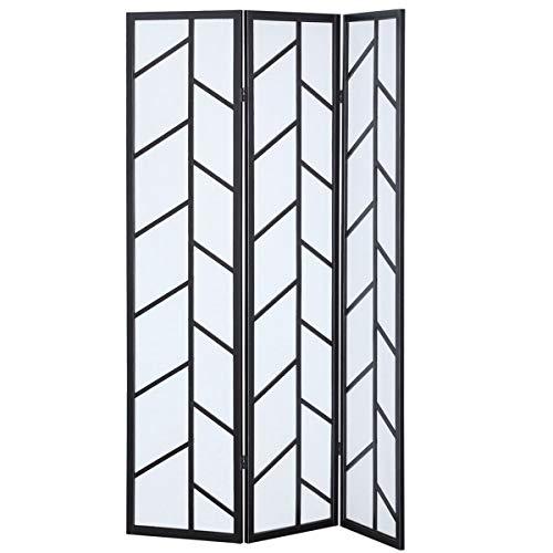 - Giantex 3 Panel Folding Privacy Screen Room Divider Trunk Pattern Shoji Screen Living Room Bedroom Furniture