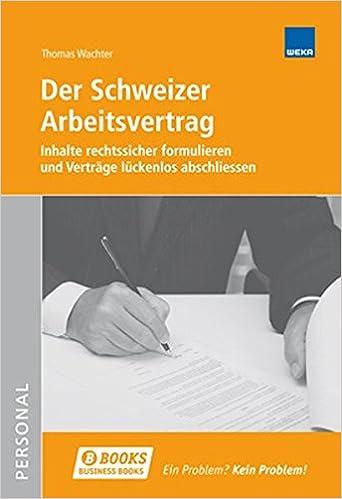 Der Schweizer Arbeitsvertrag Amazonde Thomas Wachter Bücher