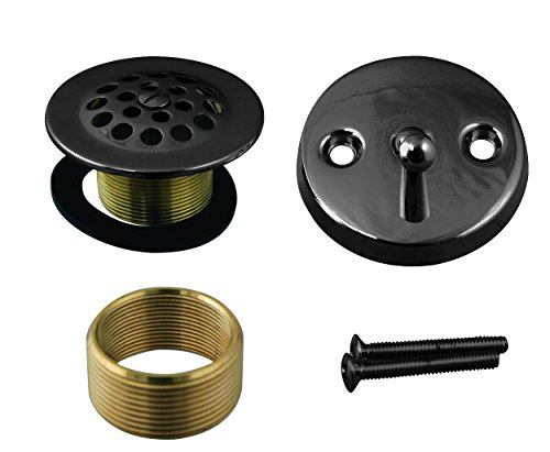 Westbrass D92K-12 Beehive Grid Universal Fine or Coarse Thread Replacement Strainer Drain with Trip Lever 2-Hole Faceplate & Screw, Oil Rubbed Bronze ()