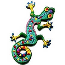 Lizard Gekko Salamander Retro Hippie Hippy Boho 70s Applique Iron-on Patch S-189 Cute Gift to Your Cloth Fast Shipping by KHUNDA