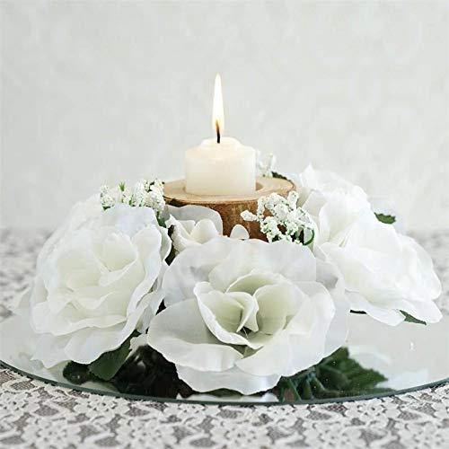 Amazon Com Efavormart 8 Pcs Artificial Roses Flowers Candle Rings