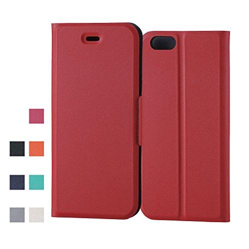 ELECOM iPhone 6s/6 対応 ケース 手帳型 ソフトレザーカバー 薄型 レッド  PM-A15PLFUMRD