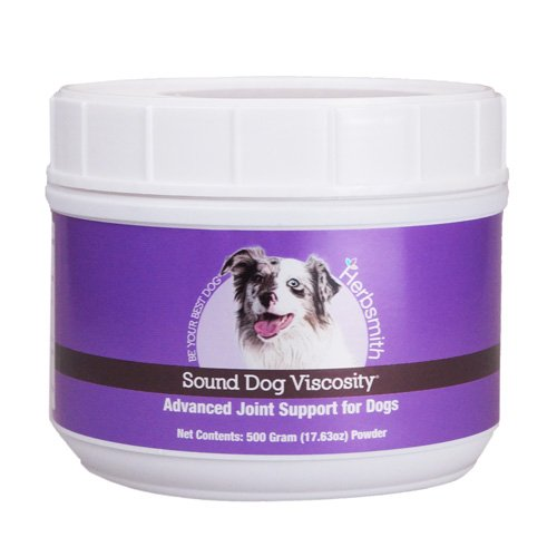 Synergistic Glucosamine - Herbsmith Sound Dog Viscosity – Advanced Joint Support for Dogs – Veterinarian Recommended Glucosamine for Dogs, Hyaluronic Acid, Chondroitin, MSM – Natural Arthritis Pain Relief – 500g Powder