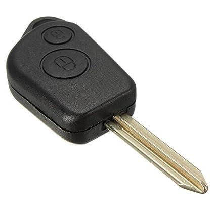 Audew 2 Botón carcasa mando Caso Key Fob alarma remota para ...