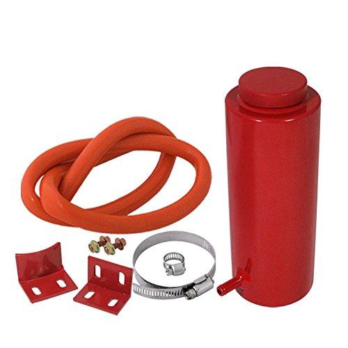 Morakot Racing - 800ML Cylinder Radiator Overflow Reservoir Coolant Tank Aluminum Can Red