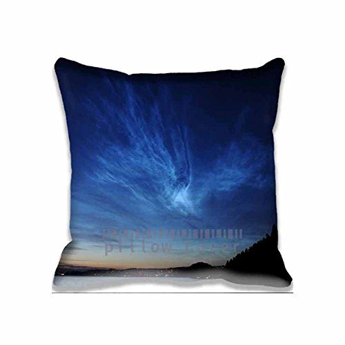 Decor Cotton Throw Pillow Case Best Aurora Landscape Cushion Cover landscape Pillowcases 18x18 Inches (Aurora King Bed)