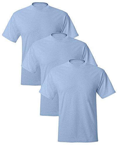 lend EcoSmart T-Shirt, Light Blue, Large, (Pack of 3) ()