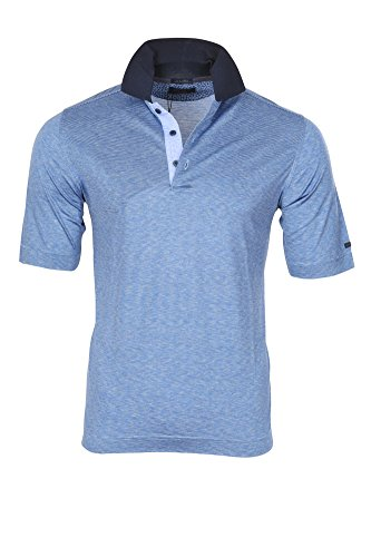 Paul & Shark Polo Poloshirt Herren Hellblau Weiß Regular Fit Baumwolle Casual S